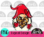 Cheetah Love Gnome DIGITAL FILE-desser, Digital, Digital Design, Digital File, PNG, Sublimation, SVG, Transfer-Shop-Wholesale-Womens-Boutique-Custom-Graphic-Tees-Branding-Gifts