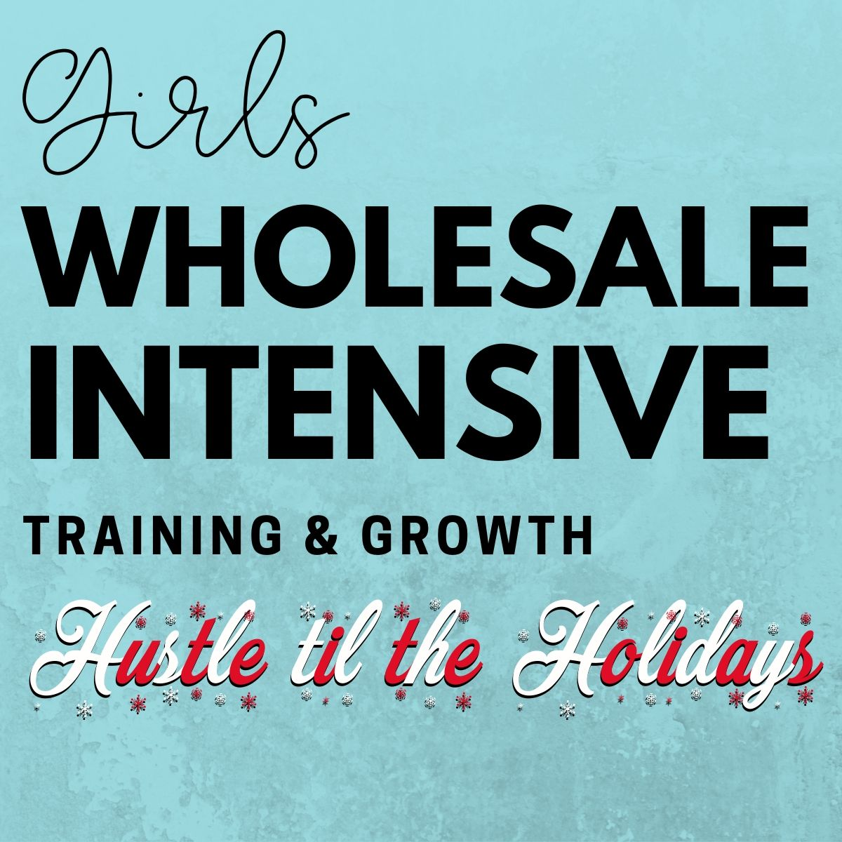 Wholesale Training & Growth Intensive ~ Hustle Til The Holidays