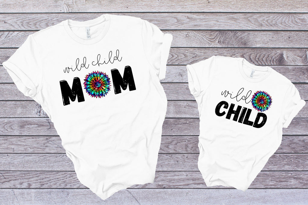 Wild Child Mom - Adult / Baby / Toddler / Youth-Shop-Wholesale-Womens-Boutique-Custom-Graphic-Tees-Branding-Gifts