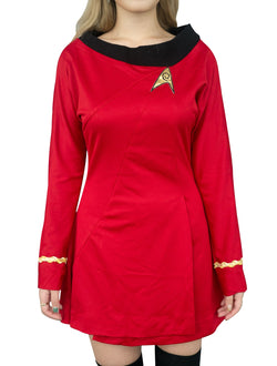 Star Trek Costume Uhura TOS Uniform Classic The Original Series Dress Skirt Skant - cosplayboss