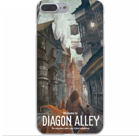 Harry Potter Protection Transparent Cover Case for iPhone 7 7 Plus 6 6S Plus 5 5S 6splus 7plus - cosplayboss