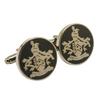 James BOND 007 SKYFALL Cufflinks Gun Metal Family Crest Orbis Non Sufficit Brass version - cosplayboss