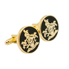 James BOND 007 SKYFALL Cufflinks Gold Family Crest Orbis Non Sufficit Brass version - cosplayboss