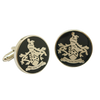 James BOND 007 SKYFALL Cufflinks Family Crest Orbis Non Sufficit Brass version - cosplayboss