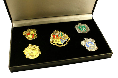 Harry Potter School of Hogwarts College Badges Pin Prop in Box - cosplayboss