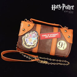Harry Potter Hogwarts Castle Crest Envelope Satchel Fold Wallet Purse with Tag for Ladies Women - cosplayboss