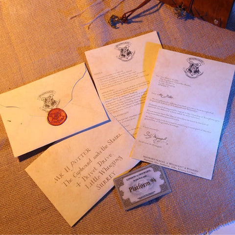 Harry Potter Hogwarts Acceptance Letter Package five pieces suit of Harry Potter Cosplay Prop Collectible - cosplayboss