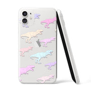 Pastel T-Rex Clear iPhone Case - Eclectic Soul London