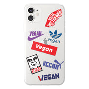 Vegan Brand Clear iPhone Case - Eclectic Soul London