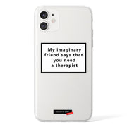 My imaginary friend Clear iPhone Case - Eclectic Soul London