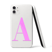 Light Pink Initials Clear iPhone Case - Eclectic Soul London