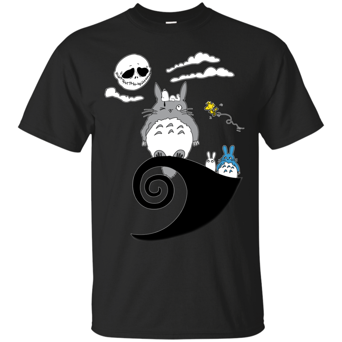 totoro snoopy nightmare before christmas t shirt