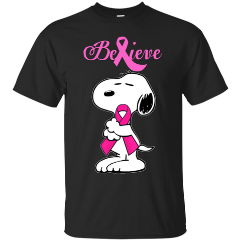 Breast Cancer Awareness - Snoopy - Believe - tee shirt, hoodie, long sleeve