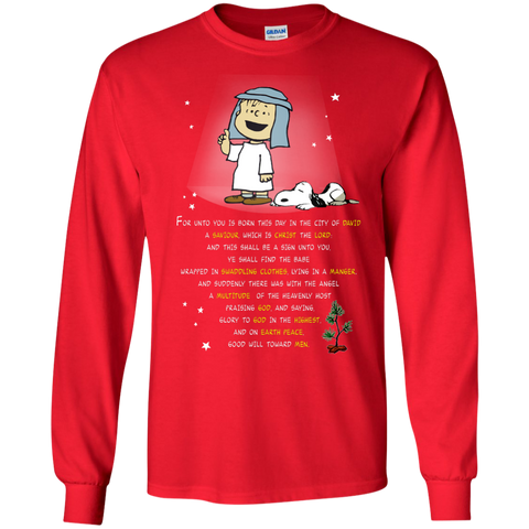 Linus and Snoopy - Glory to the God - snoopy shirts