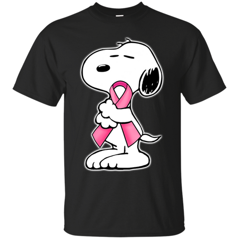 Snoopy hugs - Breast Cancer Awareness