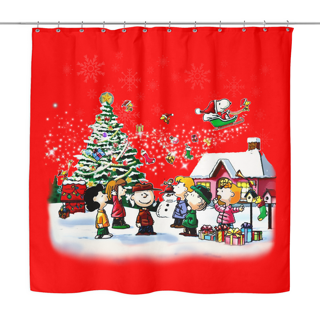 shower curtain peanuts merry christmas snoopy shirts - Snoopy Merry Christmas Images