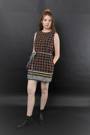 BELLA EMBROIDERED SHIFT DRESS - zohaonline