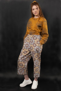 DORIAN HIGH WAIST PRINTED TWILL PANTS - zohaonline