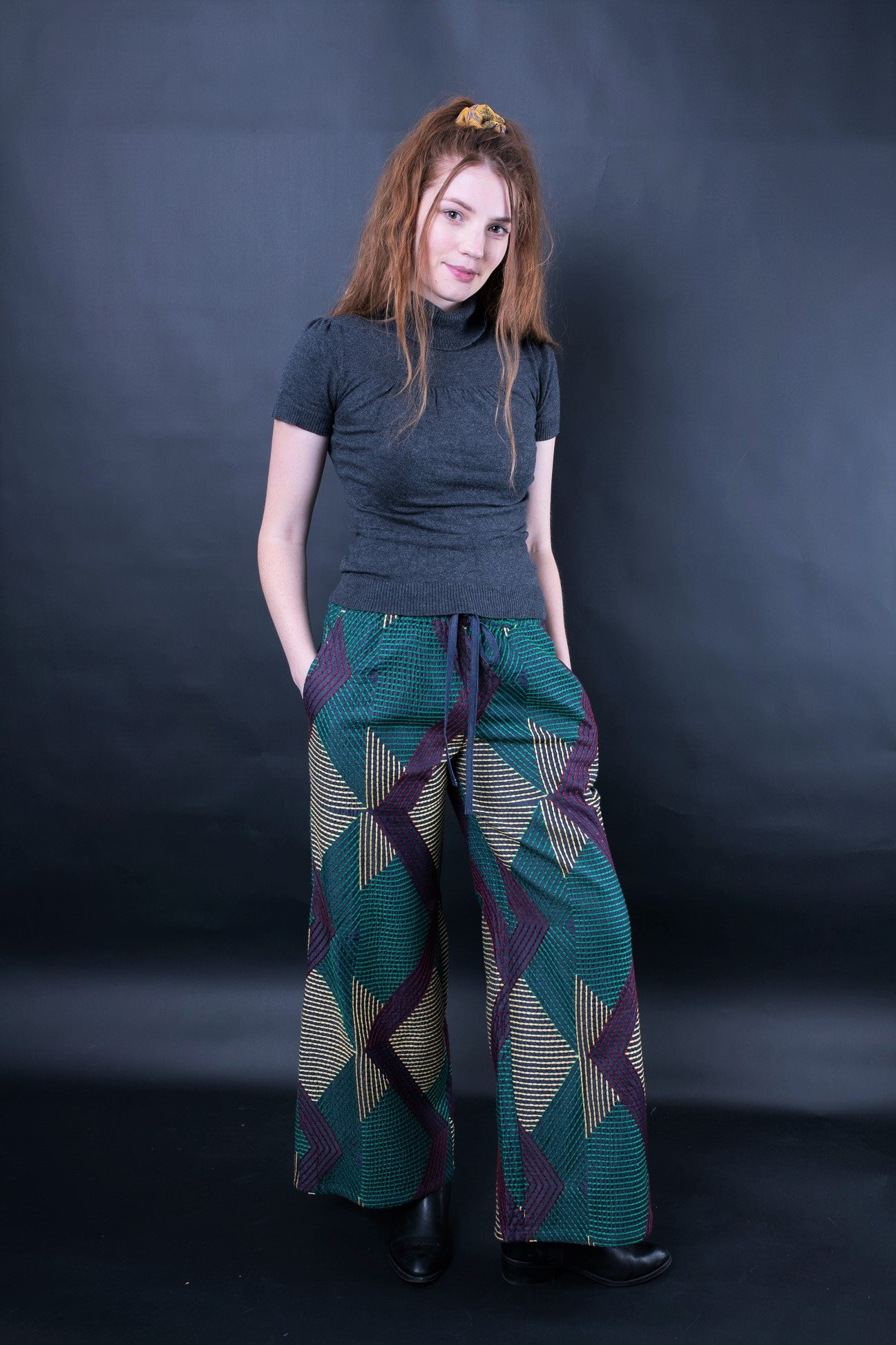 DONNATELLA EMBROIDERED WIDE-LEG PANTS - zohaonline