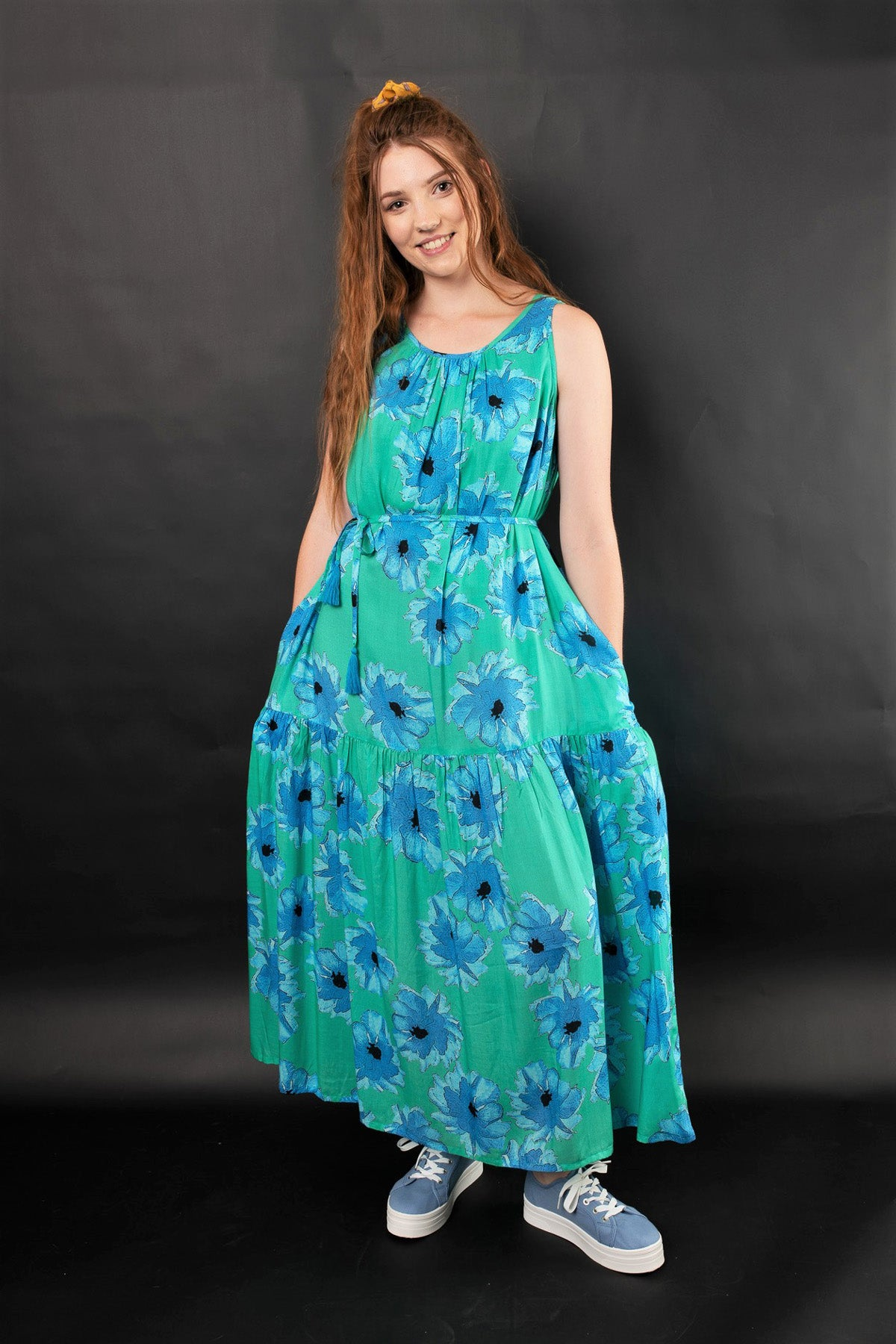 LARA FLORAL TIER MAXI DRESS - zohaonline