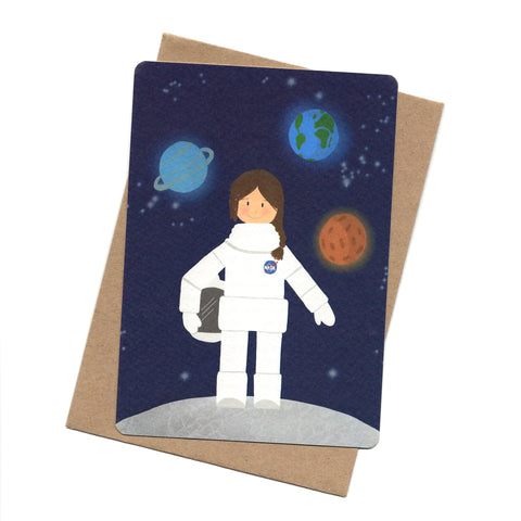 Astronaut Post Card