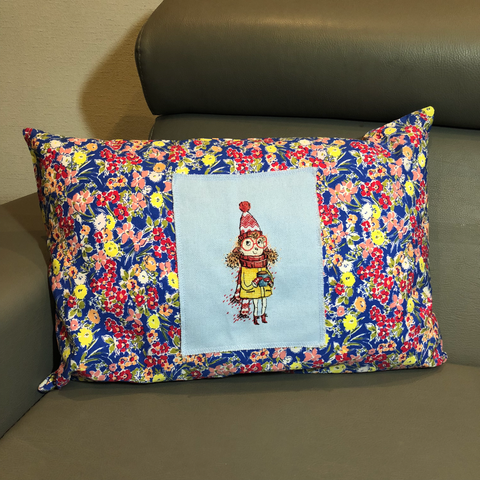 Pillow with a Girl