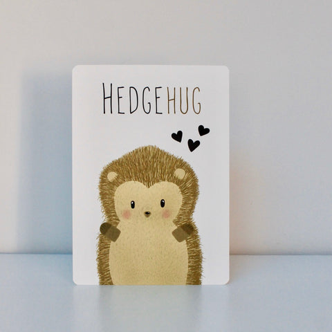 Hedgehug Post Card