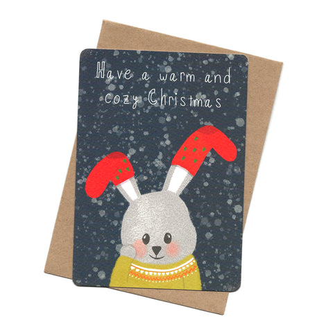 Rabbit Socks Post Card