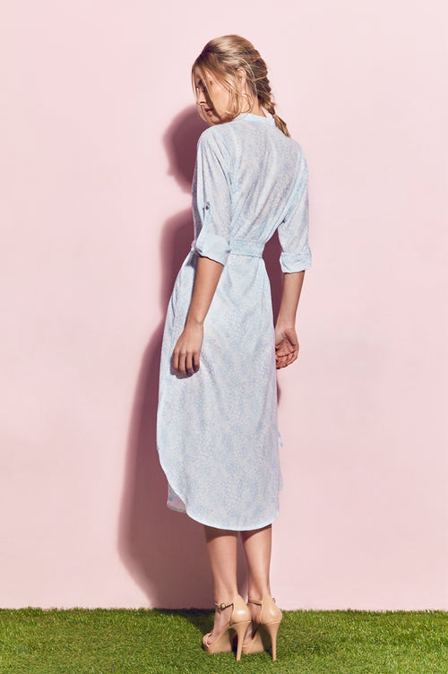 Matea Designs ERMA Light Blue Shirt Dress