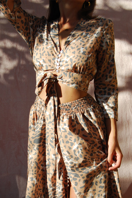 Matea Designs ALICE Leopard Print Crop Top - AfterPay & ZipPay Worldwide Shipping
