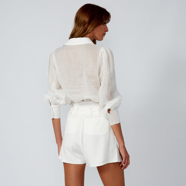 JULIE Linen White Shirt