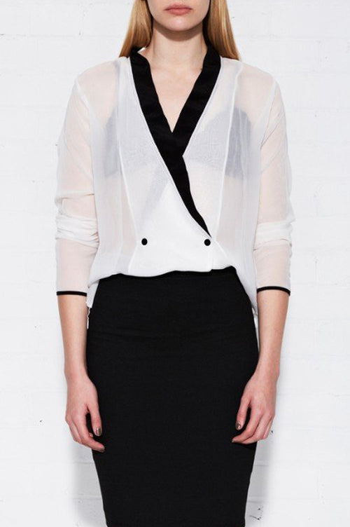 Matea Designs JOY White Silk Shirt - AfterPay & ZipPay Worldwide Shipping