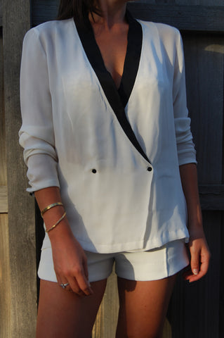 Matea Designs ITS A GOOD LIFE White Long Sleeve Dress
