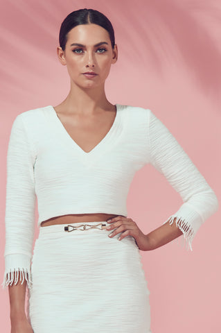 Matea Designs ABUDANTINA White Crop Top