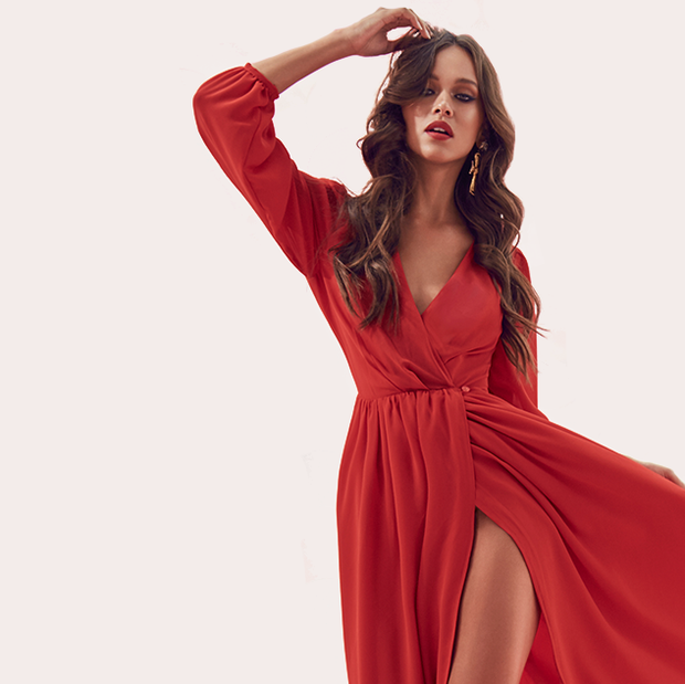 Mandy Red Maxi Dress