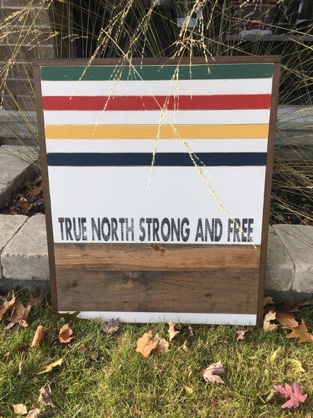True North Strong and Free Canadiana wall art