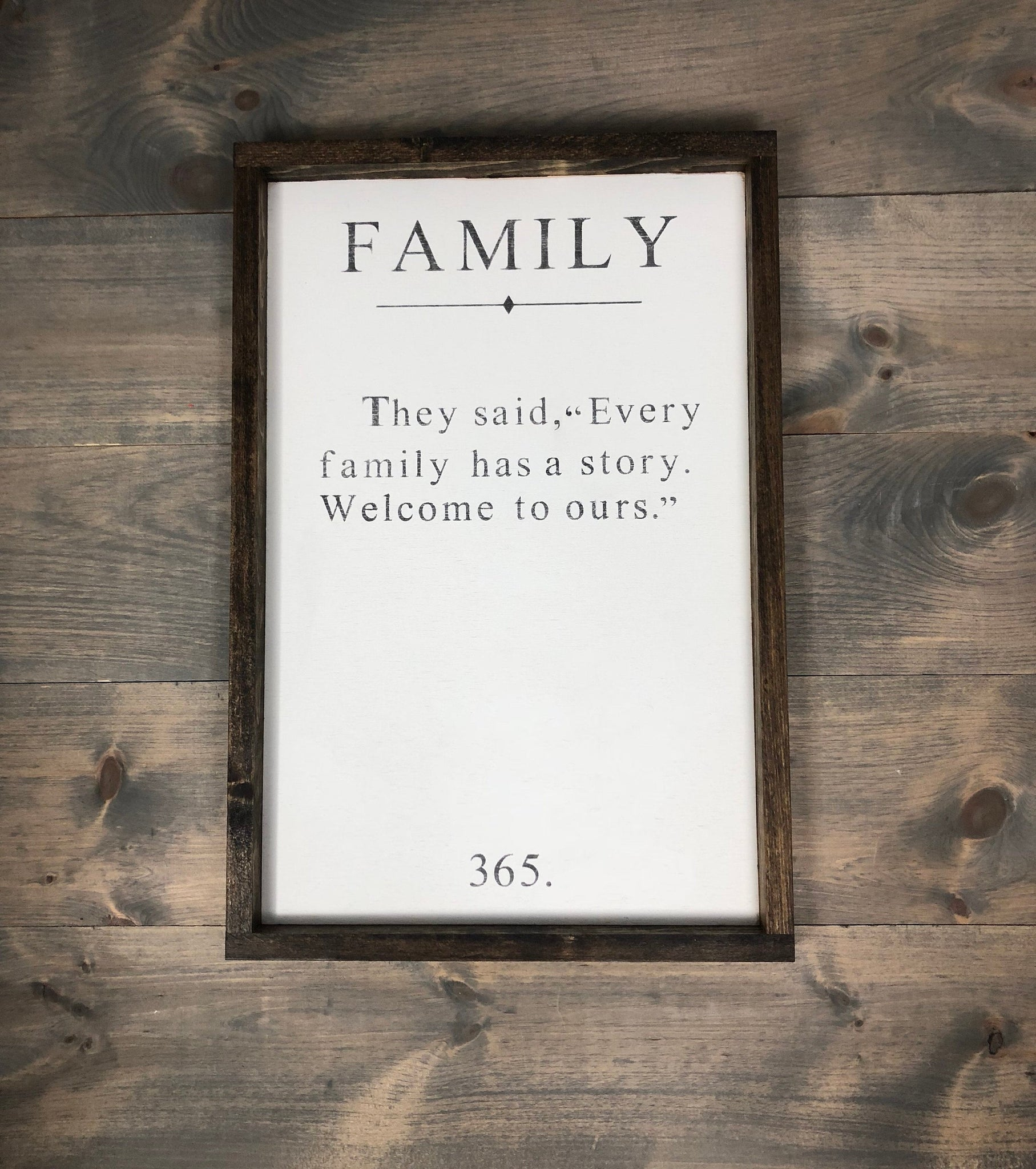 unique family story sign | hand painted wood sign
