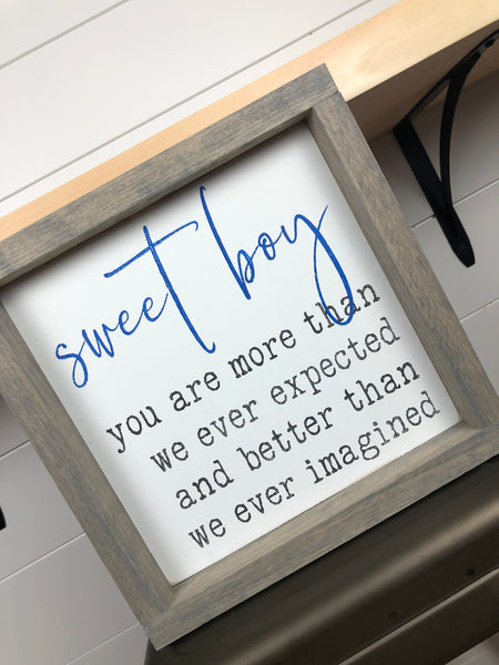sweet girl | sweet boy| kids bedroom decor | nursery wall art| baby shower gift | nursery decor | wood sign