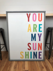 you are my sunshine sign | nursery art
