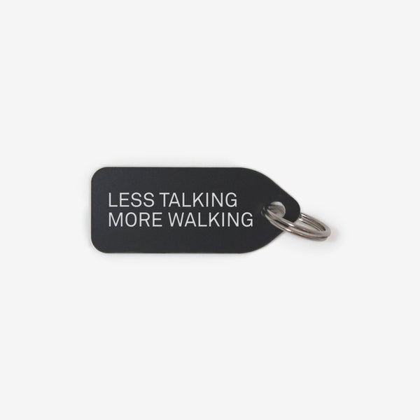 Dog collar charm - Less talking, more walking