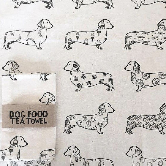 The Dog Food Tea Towel