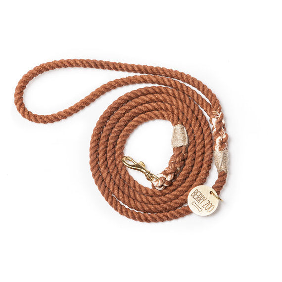 Classic Brown Leash Gold