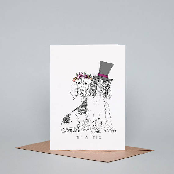 Mr & Mrs Greeting Card