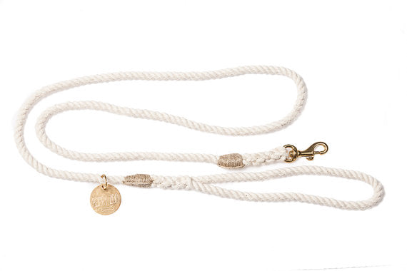 Classic Natural Leash Gold