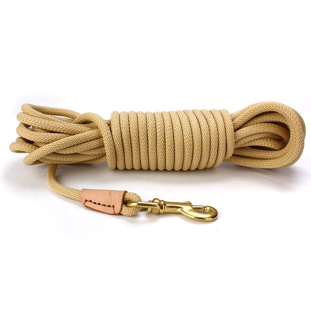 Long dog leash perfect for off-leash training