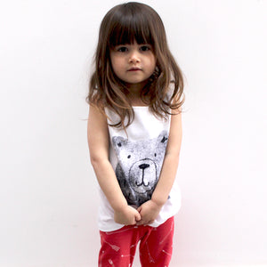 Bear Vest - Sleeveless T-shirt - Well Grounded Co Tops