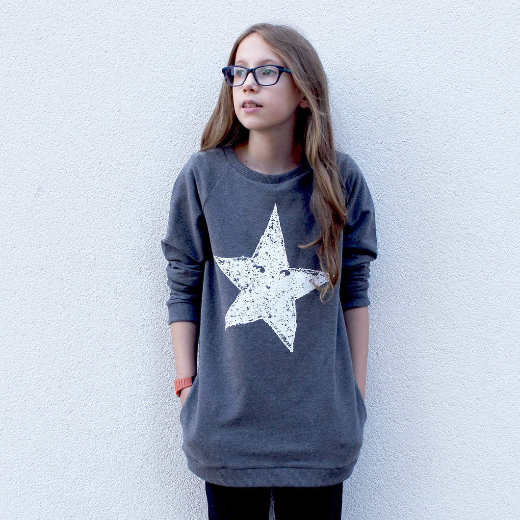 Happy Star Long Sweatshirt