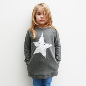 Grey Long Sweatshirt for Toddlers