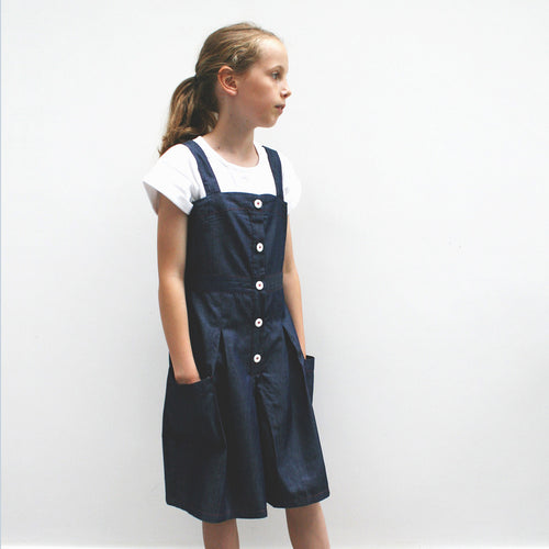Dark Denim Pinafore Culottes
