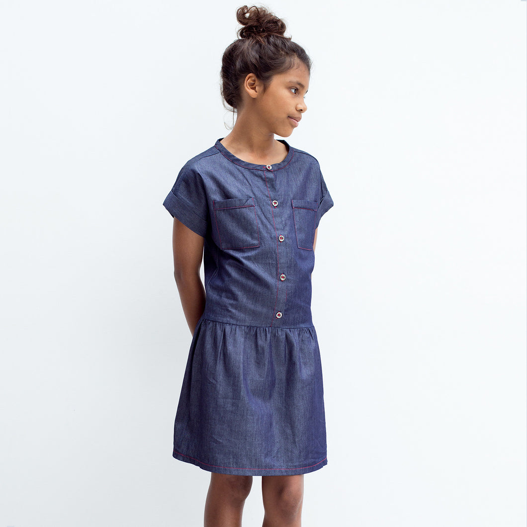 Dark Denim Tencel Shirt Dress - Well Grounded Co